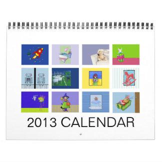 El calendario de 2013 niños