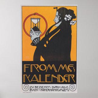 El calendario de Fromme Póster