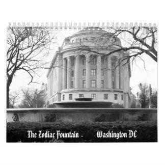 El calendario de la fuente 2013 del zodiaco
