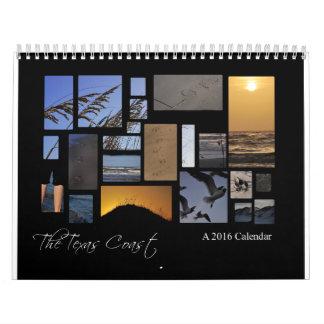 El calendario de la playa de la costa de Tejas, un