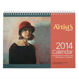 El calendario de la revista 2014 del artista