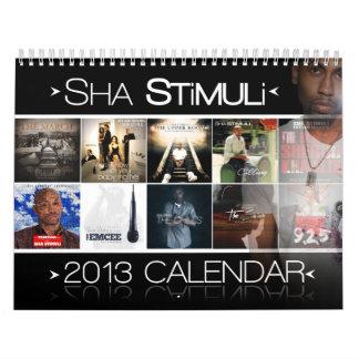 El calendario de la serie 2013 de la cinta del