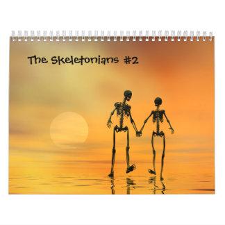 El calendario de no. 2 de Skeletonians