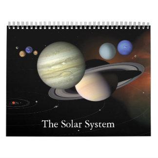 """""""El calendario de pared de la Sistema Solar"""" 2012"""