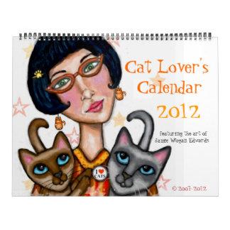 El calendario del amante del gato para 2012