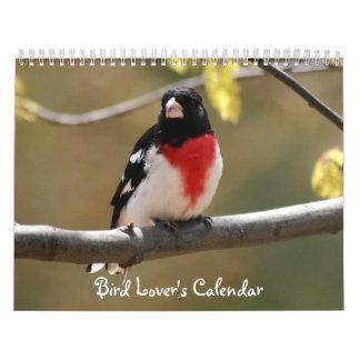 El calendario del amante del pájaro