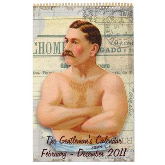 El calendario del caballero de hombres del hombre,