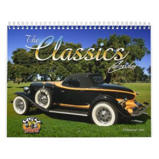 El calendario del coche de las obras clásicas