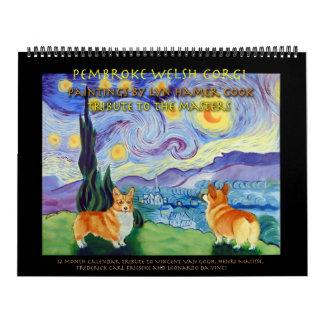 El calendario del Corgi Galés del Pembroke domina