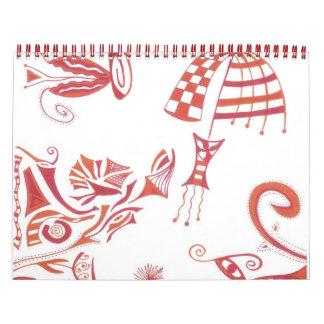 El calendario del Doodle enero de 2012-diciembre