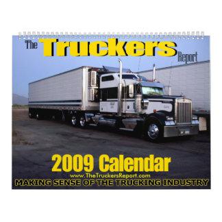 El calendario del informe 2009 de los camioneros