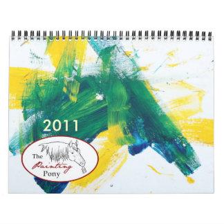 El calendario del potro 2011 de la pintura