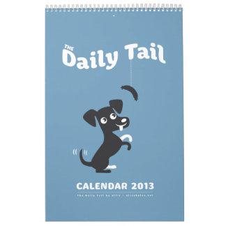 El calendario diario 2013 de la cola