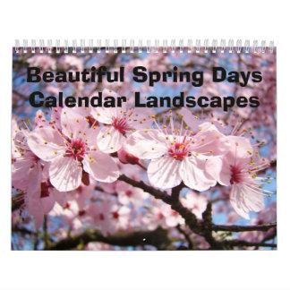 El calendario hermoso de los días de primavera aja