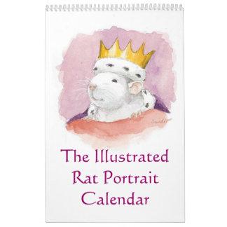 El calendario ilustrado del retrato de la rata