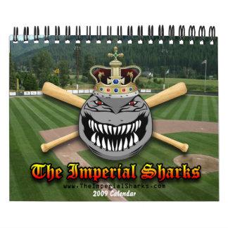 El calendario imperial de los tiburones 2009