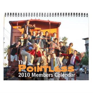 El calendario insustancial de 2010 miembros
