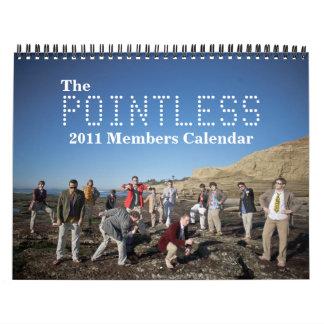 El calendario insustancial de 2011 miembros