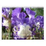 El CALENDARIO irisa las flores del iris del calend
