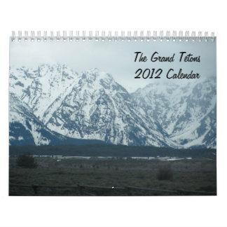 El calendario magnífico de Teton 2012