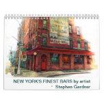 El calendario más fino de las barras de Nueva York