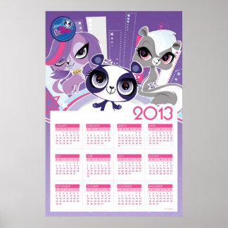 El calendario más pequeño de la tienda de animales impresiones