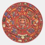 El calendario maya etiquetas redondas