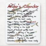 El calendario Mousepad del pescador Tapete De Ratones