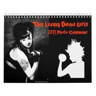 El calendario muerto vivo de los chicas
