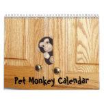 El calendario oficial del mono del mascota