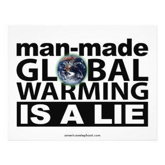 """El calentamiento del planeta artificial es una men folleto 8.5"""" x 11"""""""