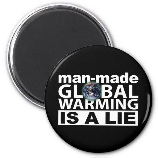 El calentamiento del planeta artificial es una men imán de frigorífico