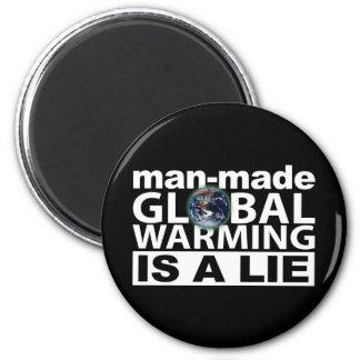 El calentamiento del planeta artificial es una men imán redondo 5 cm