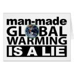 El calentamiento del planeta artificial es una men tarjetas
