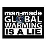 El calentamiento del planeta artificial es una men postales