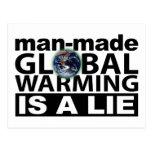 El calentamiento del planeta artificial es una men tarjetas postales