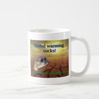 El calentamiento del planeta chupa taza de café