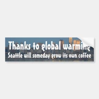 El calentamiento del planeta crecerá algún día el  pegatina para auto