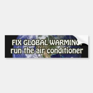 El calentamiento del planeta del arreglo funciona  pegatina para auto