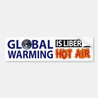El calentamiento del planeta es aire caliente libe pegatina de parachoque