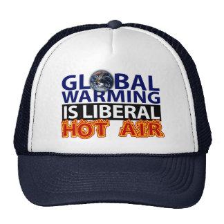 El calentamiento del planeta es aire caliente libe gorro