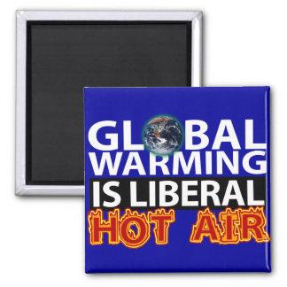 El calentamiento del planeta es aire caliente libe imán de frigorífico
