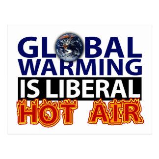 El calentamiento del planeta es aire caliente libe postales