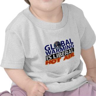El calentamiento del planeta es aire caliente camisetas