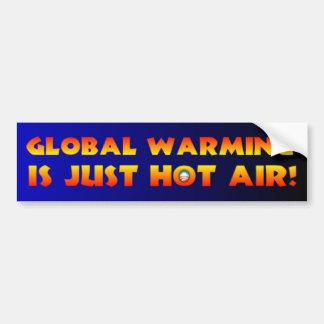El calentamiento del planeta es apenas aire calien pegatina para auto
