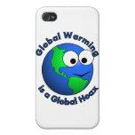 El calentamiento del planeta es broma global iPhone 4 cárcasas