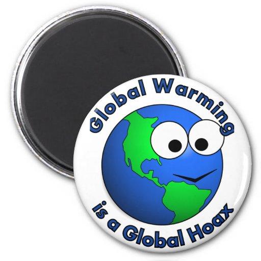 El calentamiento del planeta es broma global imán redondo 5 cm