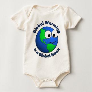El calentamiento del planeta es broma global mameluco de bebé