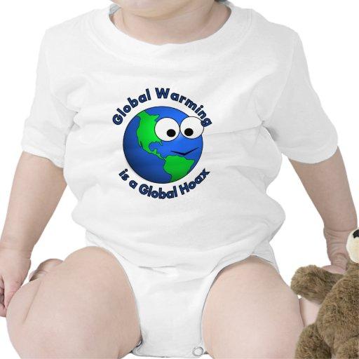 El calentamiento del planeta es broma global traje de bebé