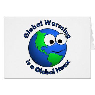 El calentamiento del planeta es broma global tarjeta de felicitación